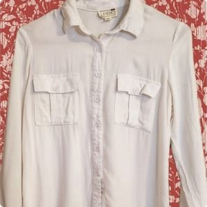 L.A. Hearts Long Sleeve Button Up White Size XS